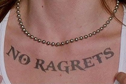 """""""No Ragrets"""" Bumper Sticker"""