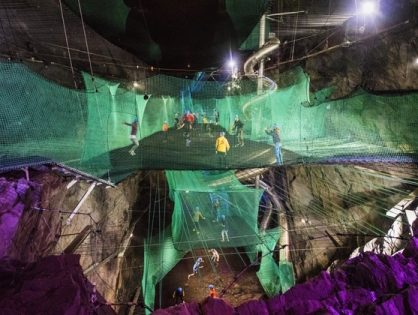 Zip World Bounce Below Trampoline Cave