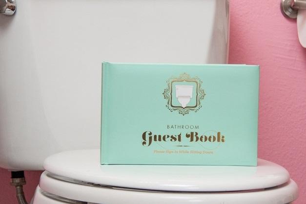 Knock Knock Bathroom GuestBook