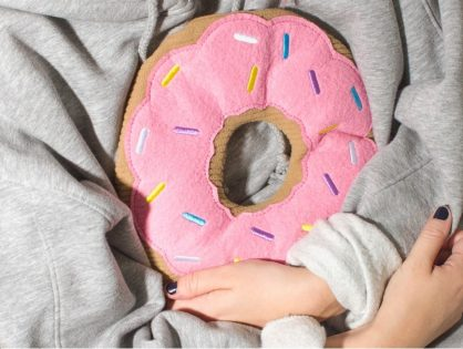 Heated Donut Snuggle Buddy Pillow