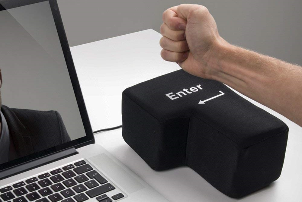 Punch-able Giant Enter Key
